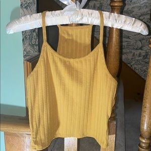 Tops - 4 for $20👑 NWT Mustard Yellow Crop Tank Top